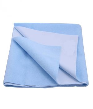 Buy Glassiano Ninnu  Water Proof Singlebed Size 140X220 Cm Sky Blue Baby Sheet online