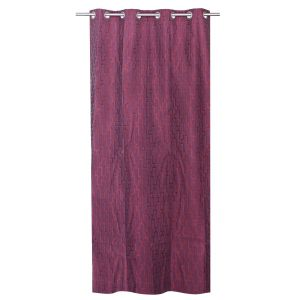 Buy Be Dark Maroon Jacquard Geometrical Design Door Curtain online