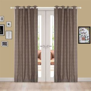 Buy Door Curtain Jacquard Geometric Design Muticolor online