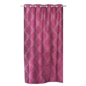 Buy Be Dark Maroon Jacquard Contemporary Design Door Curtain online