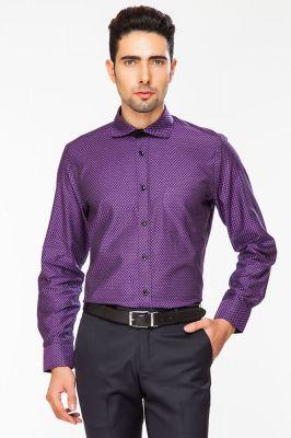 9a18be60f60 Buy Dapper Homme Purple Color Egyptian Cotton Slim Fit Shirt For Men online