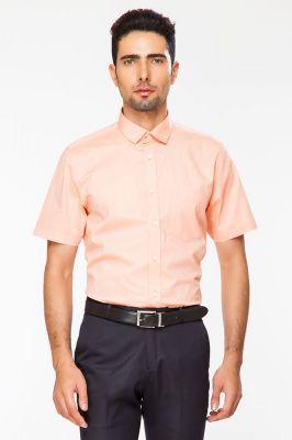 8d4229e622e2 Buy Dapper Homme Orange Color Egyptian Cotton Regular Fit Shirt For Men  online