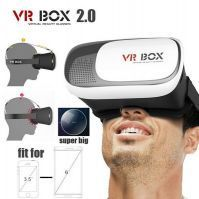 Buy Head Mount Plastic Vr Box 2.0 Version Vr Virtual Reality Glasses Google Cardboard 3d Game Movie For 3.5