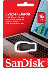 Buy Sandisk Cruzer Blade 16GB USB Flash Drive online