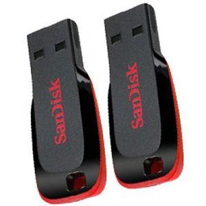 Buy Sandisk Cruzer Blade 4GB 4GB USB 2.0 Pen Drive (combo Pack) online