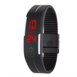 Buy Jelly Slim Men Women Black LED Digital Casual Bracelet Band LED Watch online