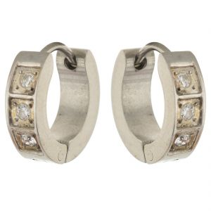 Buy Sanaa Creations Silver Plated Alloy Hoop Earrings For Men online
