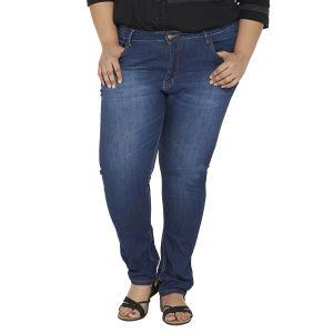 Buy Zush Mid Rise Regular Fit Blue Color Cotton Blend Plus Sized Jeans For Womens Zu1021 online