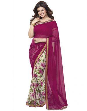Buy Creative Fashion Ayesha Takia Bollywood Replica Pink Printed Saree (product Code - Pink_print) online