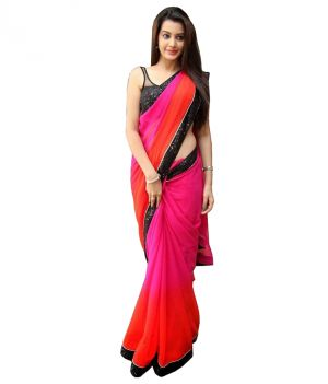 Buy Pushty Fashion Multicoloured Georgette Saree Z-219 online