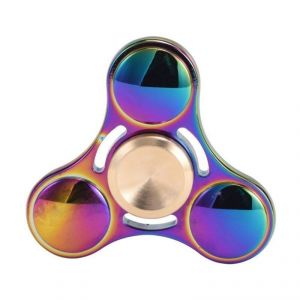 Buy Rainbow Metal Fidget Spinner Tri-spinner Hand Spinner Toy For Autism And Adhd Kids/adult Funny Anti Stress Toy online