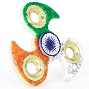 Buy Tri-colour National Flag Fidget Spinner Game Independence Day Special Toy online