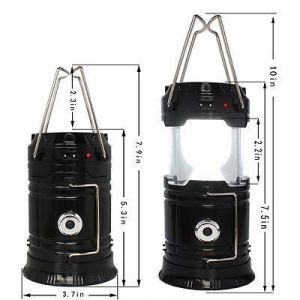 Buy Solar Zoom Rechargeable Emergency LED Light Camping Lantern Lamp With Hooks online