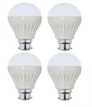 Buy Autorise 9 Watt Plastic LED Bulb(white) Pair Of 4 online