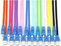 Buy Genuine Micro USB Smiley Lightening Data Cable For Samsung Galaxy S4 Zoom, Star Pro S7260, Star S5280, W I8150, Win I8550 Free Shipping online