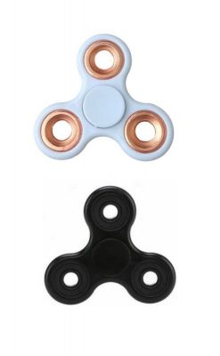 Buy Fashblush Black And White Fidget Hand Spinner Anti Anxiety, Stress Reliever High Quality With Rose Gold Bearings (pack Of 2) (product Code Fb72033) online