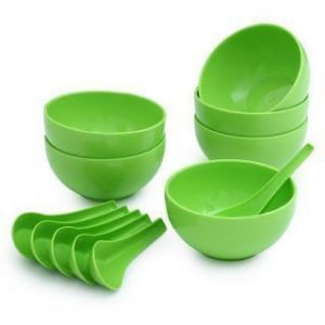 Buy Set Of 12 PCs Soup Set(microwave, Refrigerator & Dishwasher Safe) online