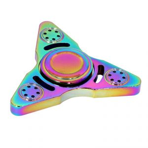 Buy Wheel Power Multicolour Tri Blade Triangle Fidjet Spinner online