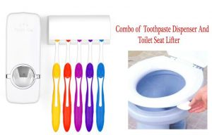 Buy Combo Of Toothpaste Dispenser And Toothbrush Holder Set And Toilet Seat Picker online
