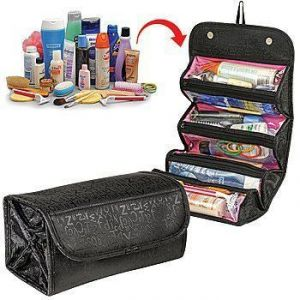 Buy Portable Roll N Go Travel Buddy Cosmetic Bag With Snap-shut Flap & Hang Tag online