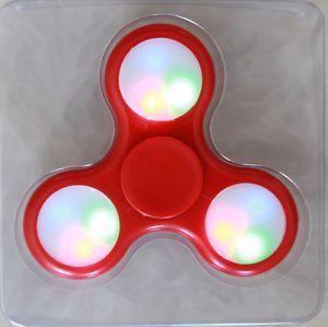 Buy LED Light Red Fidget Hand Spinner Stress Finger Game Desk Kids Toy online