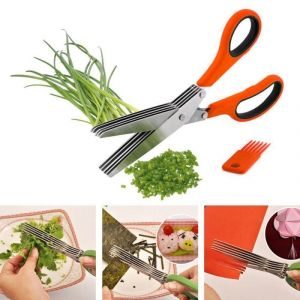 Buy 1 X 5 Blades Scissors Vegetable Chopper 1 X Clever Cutter 2-in-1 Food Chopper online