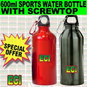 Buy 600ml Aluminium Sports Bottle Water Flask Screwtop online