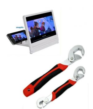 Buy Snap N Grip Steel Multipurpose Wrench With 3d Folding HD Screen Magnifier online