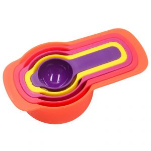 Buy Measuring Spoons And Cups 6 Piece Stackable Baking Set Kit - Colorful Cute Kitchenaid online