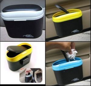 Buy Car Auto 2 Way Open Trash Can Dustbin Universal Any Car online