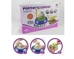 Buy Home Basics Pottery Wheel For Kids With Clay And Light online