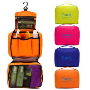 Buy Ladies Mens Wash Zipper Bag Travel Bag Toiletries Makeup Organizer Bag Hang online