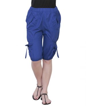 Buy The Runner Royal Blue Cotton Capri Cp-004 online
