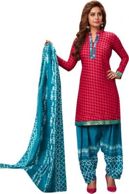 76e7633c2d Buy Elegant Cotton Patiyala Unstitched Dress Material Salwar Suit  (code-p1206) online