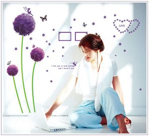 Buy Miss You Flower Wall Sticker (45 Cm X 60 Cm) online