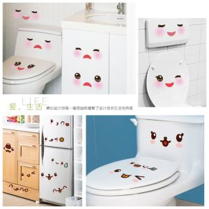 Buy Very Cute Facial Expressions Wall Sticker (30 Cm X 60 Cm) online