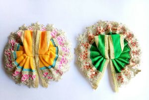 Buy 2 PCs Of Different Color Laddu Gopal Poshak Lace Border online