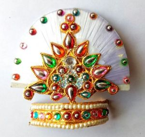 Buy Thread Work Mukut For Thakurji / Laddu Gopal Mukut / Designer Shringar Mukut online