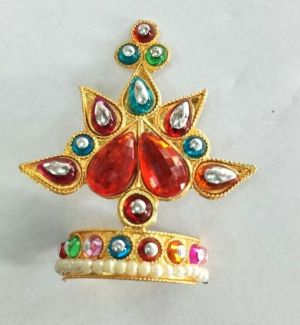 Buy Colourful Booti Mukut Work For Laddu Gopal / Mukut Shringar For Thakurji online