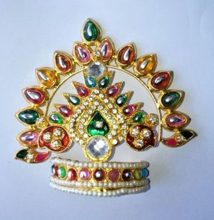 Buy Beautiful Mukut For Thakurji Shringar / Mukut For Bal Gopal / Mukut For Thakurji online