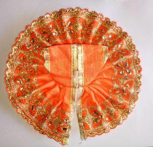 Buy Thakur Ji Summer Netted Poshak Kanch Lace Work ( 3 No) online