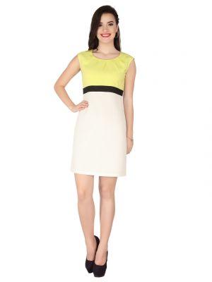 Buy Soie Yellow Crepe, Dress For Women (code - 6320yellow) online