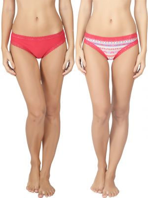 Buy Soie Pink Nylon Panty For Women Pack Of 2 online
