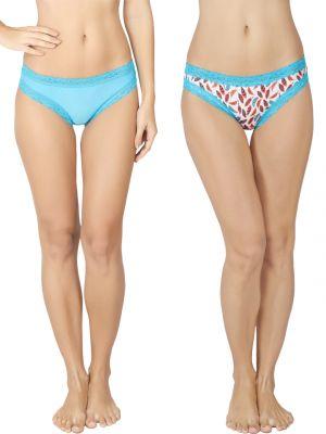 Buy Soie Multicolor Nylon Panty For Women Pack Of 2 (code - 2bf_10plume) online