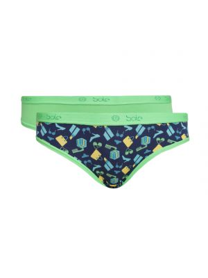Buy Soie Multicolor Cotton/Spandex Panty For Women Pack Of 2 online