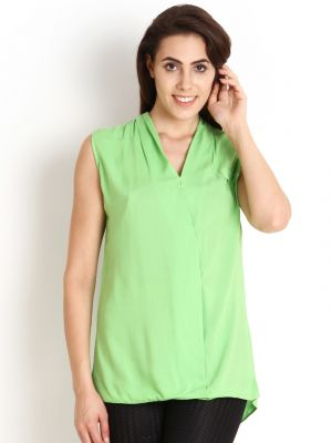 Buy Soie Casual Sleeveless Solid Women'S Top online