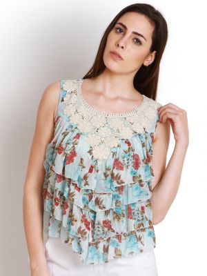 Buy Soie Casual Sleeveless Floral Print Women'S Top online