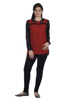 Buy Soie Ggt Tunic, Leather Collar & Lace Detailing online
