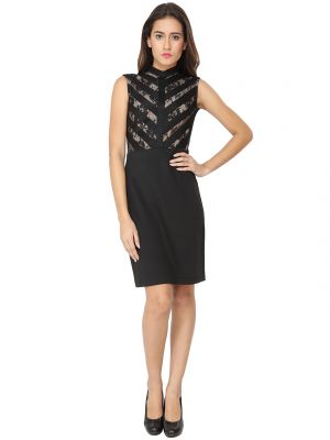 Buy Soie Solid Straight Slim Fit Shift Party Dress (product Code - 6416) online
