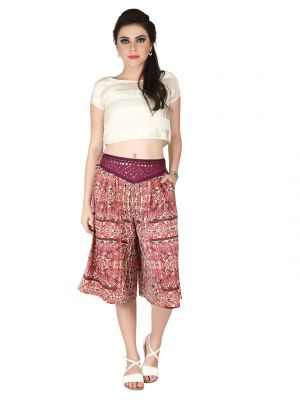 Buy Soie Printed All Over Printed Crepe Culottes For Women (code - Cl-03) online